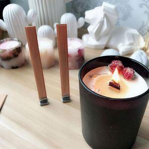100Pcs 13cm Holz Kerze Wicks mit Eisen-Ständer DIY Natürliche Kerze Cores für Geburtstags-Party Valentinstag Candle Zubehör