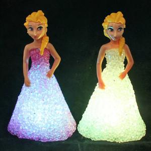 Luzes das crianças presentes brinquedos coloridos do aniversário Presentes de caracteres Luzes menina dos desenhos animados TV Movie Night Light presentes criativos LED