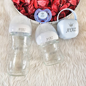 MIYOCAR qualquer nome make baby bottle pacifier box set BPA free grade baby milk bottle dummy custom