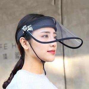 Tampas de protecção anti-fog de saliva chapéus Homens Mulheres HD Transparente face Boca máscara vazia Hat Top respingo Previne Saliva Transmission