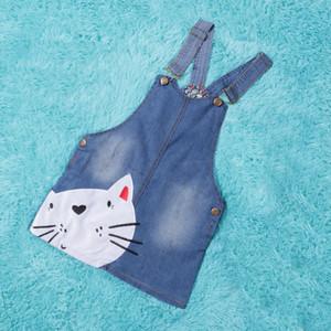 Nueva llegada de gato del vestido de los bebés del verano del niño de los guardapolvos de dibujos animados vestido de la muchacha ocasional Bebe Shein Vestidos