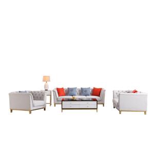 Europa del norte sofá de la tela del estilo / sencilla salón moderno sofá de 3 plazas