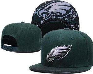 2020 Высочайшее качество Дешевые шапки Snapback Взрослый классический Письмо кости Футбольная кепка Салют для обслуживания бейсболка Филадельфия шляпы