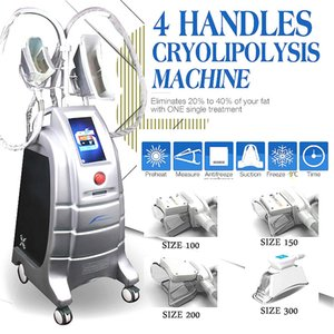 4 Handle Cryolipolysis Machine For All The Body Area And Size Handle Wrinkle Removal Body Shaping Slimming