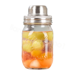 Mason Jar Shaker Lids Stainless Steel cover for Regular Mouth Mason Canning Jars Rust Proof Cocktail Shaker Dry Rub Cocktail 70mm FFA4148-4