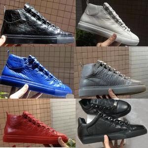 Les chaussures de sport Arena hommes Ridé cuir haut haut Homme Chaussures plates Casual Mode Chaussures à lacets bas Formateurs coupe taille 36-47
