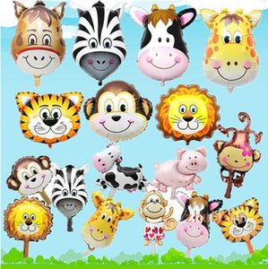 Multicolor Lovely Cartoon Animal Aluminum Film Balloon Inflatable Toy for Children Festive Party Zoo Decoration Gifts Children Toys