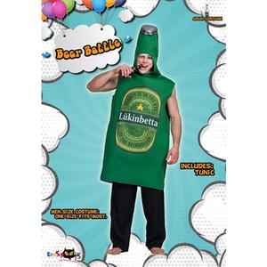 Beer Festival Polyester Bier Kostüm Wiesn Thema Kleidung Lustiger Green Ball-Spiel-Maskottchen-Maskerade-Halloween-Partei Freies Dressing