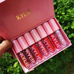 I più nuovi di trucco di arrivo 2018 Christmas Edition 7pcs / set High Gloss 7 colori Lip Gloss liquido rossetto rosa set Free Shipping