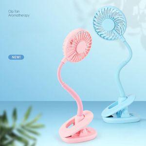 Mini Clip Fan Portable Cool Rechargeable Hand Fan With Led Light Desktop Colorful Night Light Fans Party Favor 100pcs OOA8105