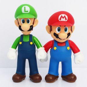 Super Mario Bros. Mario Yoshiishi Luigi PVC Character Action Atlas Hand Office Model Toy Doll 3 Pieces Set