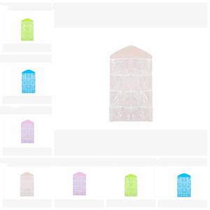 Pendurar sacos de armazenamento parede bolso de suspensão 16 compartimento de armazenamento sacos de tecido não-tecido sobre a porta save meias espaço organizador LXL676-1