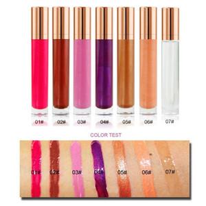 Personalizzato Private Label 7 colori di lunga durata liquido impermeabile Lipgloss chiaro scintillio umido lucida estetica di trucco all'ingrosso