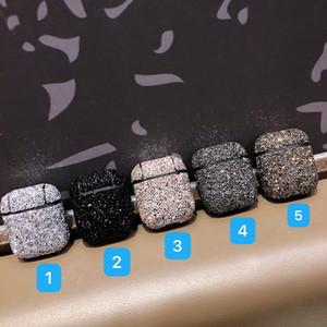 Роскошные дизайнерские наушники Чехлы для Apple Airpods 2 Чехлы для AirPod воздуха стручки 1 2 Bling Алмазная Hard Shell Защитная крышка 5 цветов