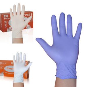 Одноразовые нитриловые резиновые перчатки водонепроницаемые лабораторные работы Кейтеринг одноразовые перчатки салон бытовой труд чистящие средства 100шт