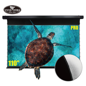 VIVIDSTORM 110 inch Drop Down screen UST Projector Ultra-Short Throw Ambient Light Rejecting home cinema 4K projector screen
