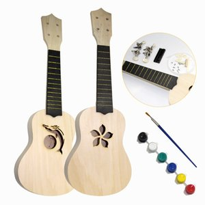 MUKU 21 Inch Simple and Fun DIY Ukulele DIY Kit Tool Hawaii Guitar Handwork Support Painting Children's Toy Assembly for Amateur