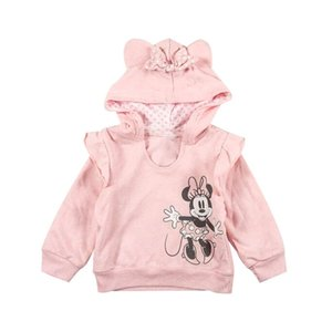 Kids cartoon pattern sweatshirt 2020 Fall New children Bow long sleeve hooded sweatshirt girls cotton pullover tops A3386