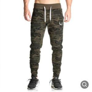 2019 Nueva moda Pantalones de chándal para hombre Entrenamiento de culturismo Ropa casual Camuflaje Hombres Pantalones de chándal Pantalones de chándal Pantalones pitillo caliente