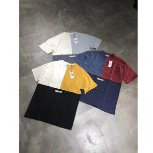 20SS новые дизайнерские Kith мужских футболки Сплошного цвета футболка бренда хлопок дизайнер рубашка Streetwear тенниска