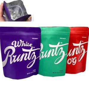 Newest Runtz Zipper Bags 3 colors Runty DustProof Bags 0G Childproof Bag for Dry Herb Flowers