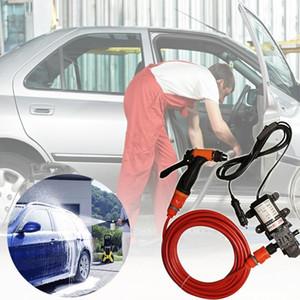 Pump Wash htmotostore- 70W 130PSI 6L / min ad alta pressione rondella dell'automobile elettrica CC 12V Clean Set
