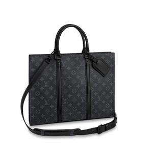 حقيبة 2020 رجل جديد أعلى حقيبة يد مصمم M45265 SAC PLAT الأفقية زيب حقيبة كتف الرجال الأزياء الفاخرة حقيبة رسول محفظة