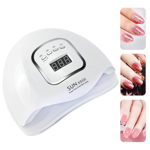 SUN 5X MAX UV LED Lamp Manicure 120W Nail Dryer For All Nail Gel Polish Ice Lamp With LCD Display For Professional Nail Art Tool