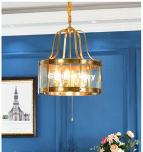 Nordic Brass ciondolo appeso D50cm H56cm Rame americano ottone lampadario a bracci di rame Chandelier Light Fixture Garantito al 100% + Free