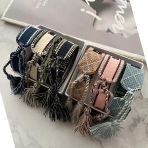 Luxury Designer Jewelry Women Men Bracelets Fashion Braided Tassel Bracelet 34 Style High Quality Embroidered Lovers Bracelet Designer