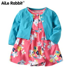 Aile Rabbit The New Baby Cotton Coat Gonna Vestito a due pezzi Ha Pure Cotton Baby Pagliaccetto Tute Suit J190715
