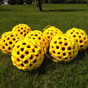 200pcs artificiales girasoles cabezas 7cm flores flores artificiales de seda para hacer la boda pomander jardín besar bolas arco guirnalda CJ191203