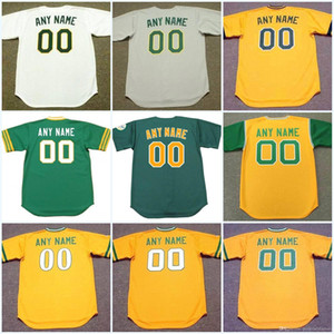 Oakland All Stitched Embroidery Custom Any Name & Any Number Retror Baseball Jersey For Mens Womens Youth High Quailty Free Shipping