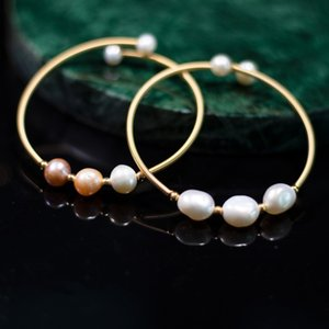 Luckypshop 2020 new fashion New original natural freshwater baroque pearl bracelet with adjustable 18K gold bracelet for niche women