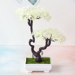 Artificial Office Decor Gift Plant Bonsai Potted Mini Simulation Pine Tree Home New 2020