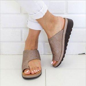 Mulheres Chinelos falhanços Plataforma das senhoras macio Thong Sandals Big Toe pé correção ortopédica Joanete Corrector Início Sapatos de verão FFA3398