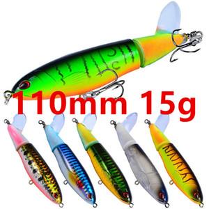 Mixtos de 8 colores 110mm 15g Lápiz de anzuelos anzuelos # 6 Gancho cebos duros Señuelos cebo artificial Pesca Caza y Pesca Accesorios