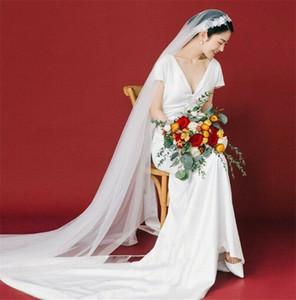 2,5 m Juliet Cap Cattedrale lunga dell'annata veli da sposa per le spose Pearls