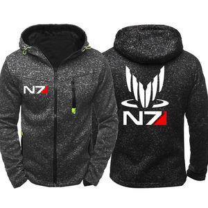 New Mass Effect N7 Men Sports Casual Hoodies Zipper Tide Jacquard Fall Sweatshirts Spring Autumn Jacket Coat Tracksuit Tops