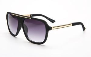 مصمم الأزياء ساحة الأسود التدرج البني نظارات الرجال الكلاسيكية مصمم مرآة مكبرة 4 ألوان gafas دي سول 10 قطع سريع السفينة