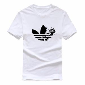 Verão 2020 roupas maré de manga curta T-shirt de algodão dos desenhos animados Rodada pescoço de impressão soltas dos homens de grande porte novo estilo