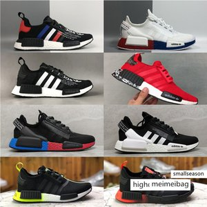 Top quality AD NMD R1.V2 Bred RUNNER shoe Primeknit OG Triple Black White Running Shoes Men Women Classic Ultra Boost Casual Sports sneakers