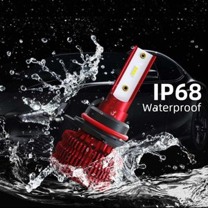 2X 9005 Mini Ultra-light LED Car Headlight Bulbs Kit 72W 8000LM 6500K 12V 24V Auto Headlamp COB Fog Light Bulb Car Accessories