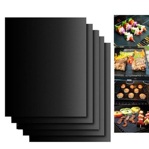 Non-stick BBQ Grill Mat 40*33cm Baking Mat Teflon Cooking Grilling Sheet Heat Resistance Easily Cleaned Kitchen Tools CCA12210 60pcs