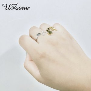 De llamada personalizada Uzone árabe conocido del corazón personalizada ajustable de acero inoxidable anillos de la placa de características del amante del recuerdo de la graduación de regalo