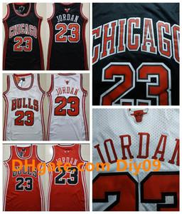 Mujeres Michael retrocesoJordonJersey retro Negro Rojo Blanco Vancouver ChicagotorosMichael JD 23 jerseys del baloncesto
