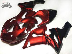 가와사키 닌자 ZX636 ZX 6R 2005 2006 636 ZX6R 05 06 어두운 빨간색 오토바이 스포츠 장에서 산 선물 키트 사용자 정의 중국 페어링