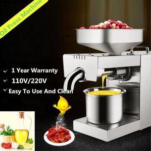 Mini 220V 110V Heat And Cold Home Oil Press Machine Peanut, Cocoa Soy Bean Oil Press Machine High Oil Extraction Rate