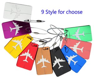 Aircraft Plane Luggage ID Tags Boarding Travel Address ID Card Case Bag Labels Card Dog Tag Collection Keychain Key Rings Toys Gifts K5465