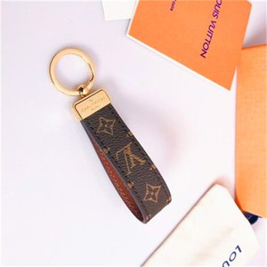 Luxury Genuine Leather 2020Car Key Chain Print Letter Keychain as Gift Fashion Door Key Ring Key Accessories